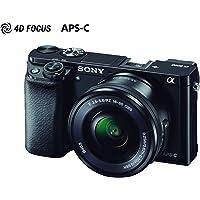 Cã¢Mera Sony Alpha A6000 Com Objetiva 16, 50Mm Mirrorless