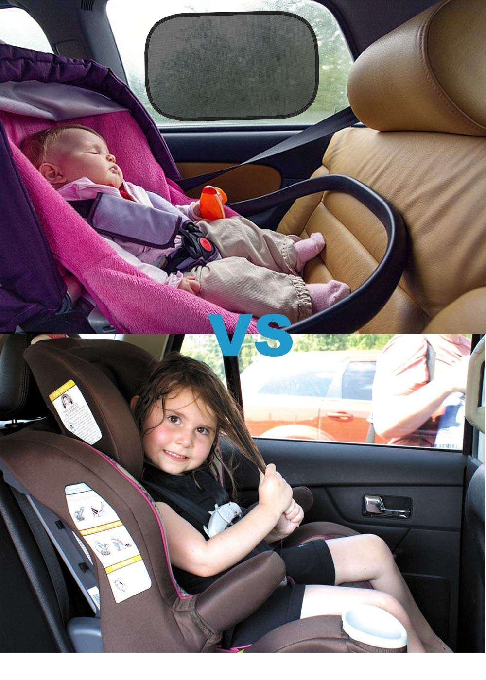 Pack of 4 Glare and UV Rays Car Sun Shade for Baby Auto Side Sunshade Protector Cling Sunshade for Car Window to Protect Baby Kid Pet from Sun Kitbest Car Window Shade