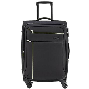 Travelite SOLARIS Bordtasche, Schwarz/Limone, 88104-01 Bagage cabine, 38 cm, 14 liters, Noir (Schwarz/limone)