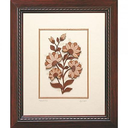 Buy Frames cottage Floral microthin venear wood art Frame, Wall ...