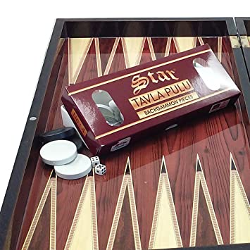 The 19 Turkish Cafe Backgammon Board Game Set
