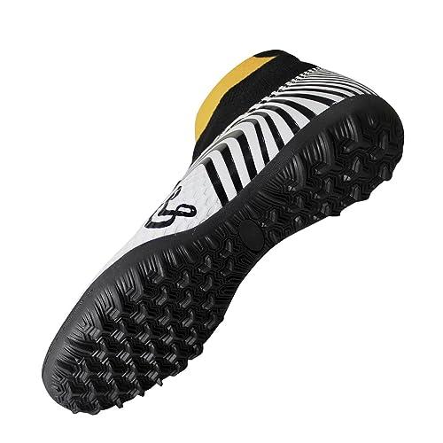 081c5685fbfe8 Unicsport UNIC Zapato de Futbol Modelo Optical Multitacos Color  Blanco-Amarillo Talla 24