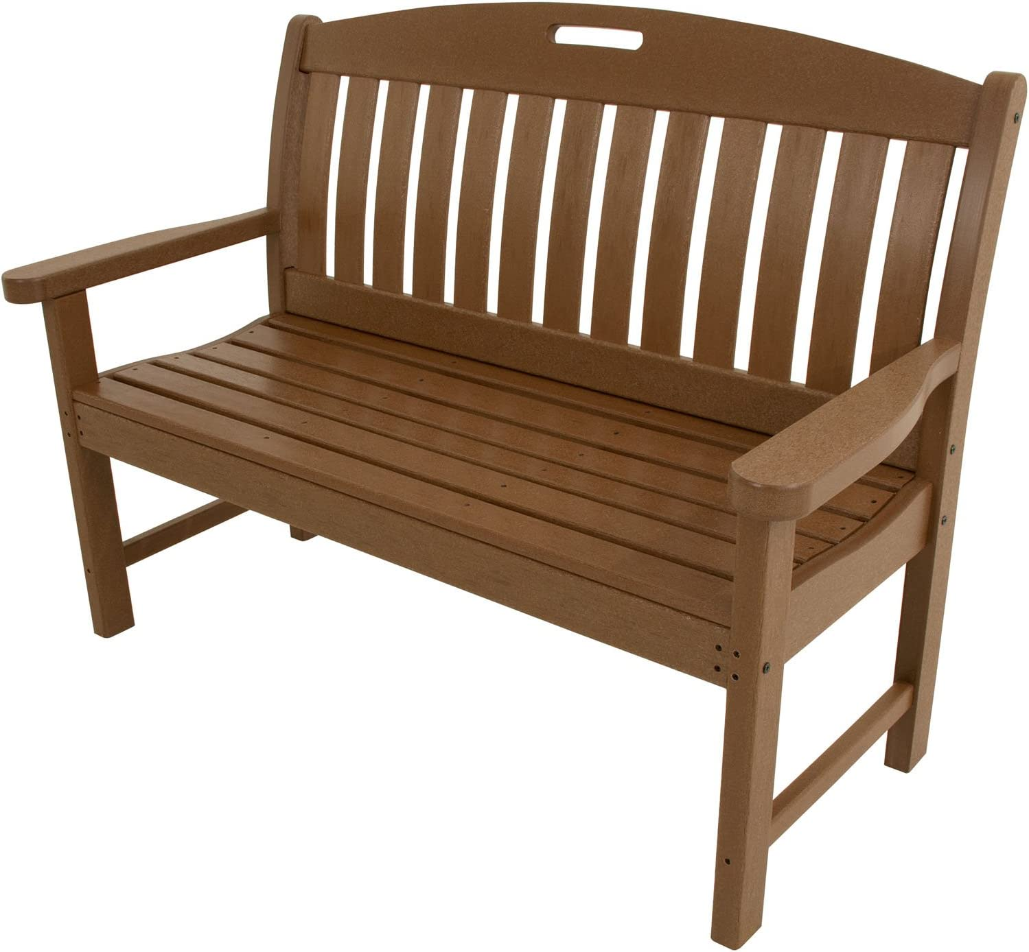 "Hanover Outdoor Furniture HVNB48TE Avalon All Weather Porch Bench, 48"", Teak"