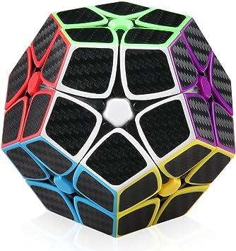 EasyGame-Megaminx Cube, fibra de carbono 2X2 Megaminx Magic Dodecaedro Speed Cubing Puzzle: Amazon.es: Juguetes y juegos