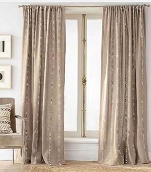 Amazon.com: Burlap Curtain Panel - Nate Berkus 54 x 95: Home & Kitchen