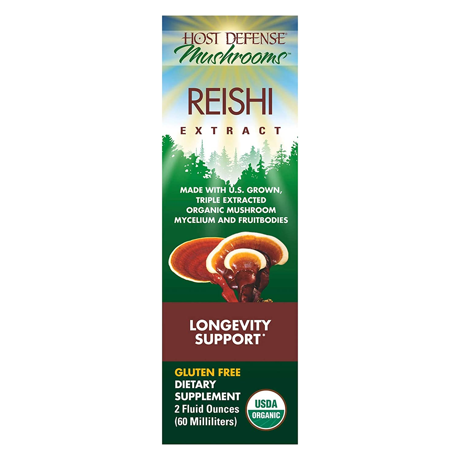 Host Defense – MycoShield Multi Mushroom Spray Peppermint, Daily Immune Support with Agarikon, Turkey Tails, and Reishi, Non-GMO, Vegan, Organic, 71 Servings 1 Ounce