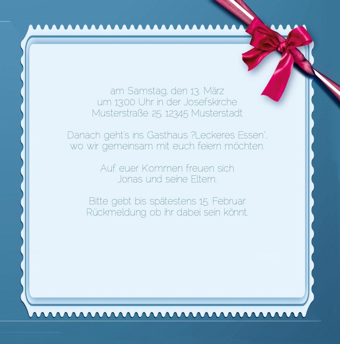 Kartenparadies Einladungskarte Taufeinladung Taufkarte Ribbon, hochwertige Einladung zur Taufe Taufe Taufe inklusive Umschläge   10 Karten - (Format  145x145 mm) Farbe  Rosalila B01MUGKMU5   Hochwertig    Glücklicher Startpunkt    Deutschland Online Shop  f684fe