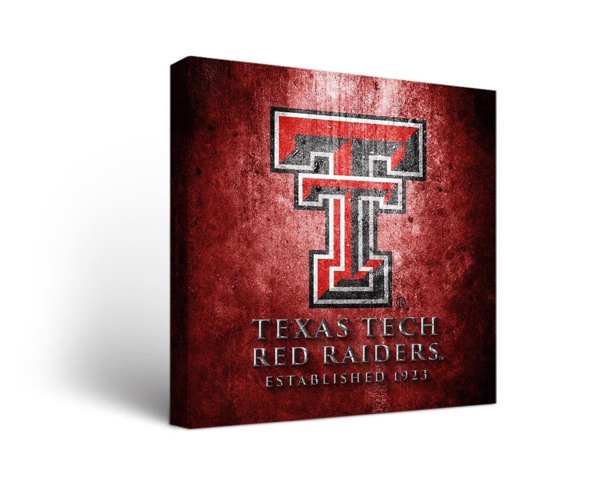 Victory Tailgate Texas Tech Red Raiders Canvas Wall Art Museum Design (36x48)