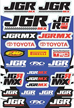 Factory Effex 17-68600 Sponsor//Logo Sticker Sheet