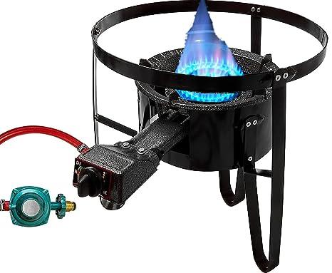 "Premium hierro fundido quemador de propano con 19 ""Tall soporte Combo cocina al aire"
