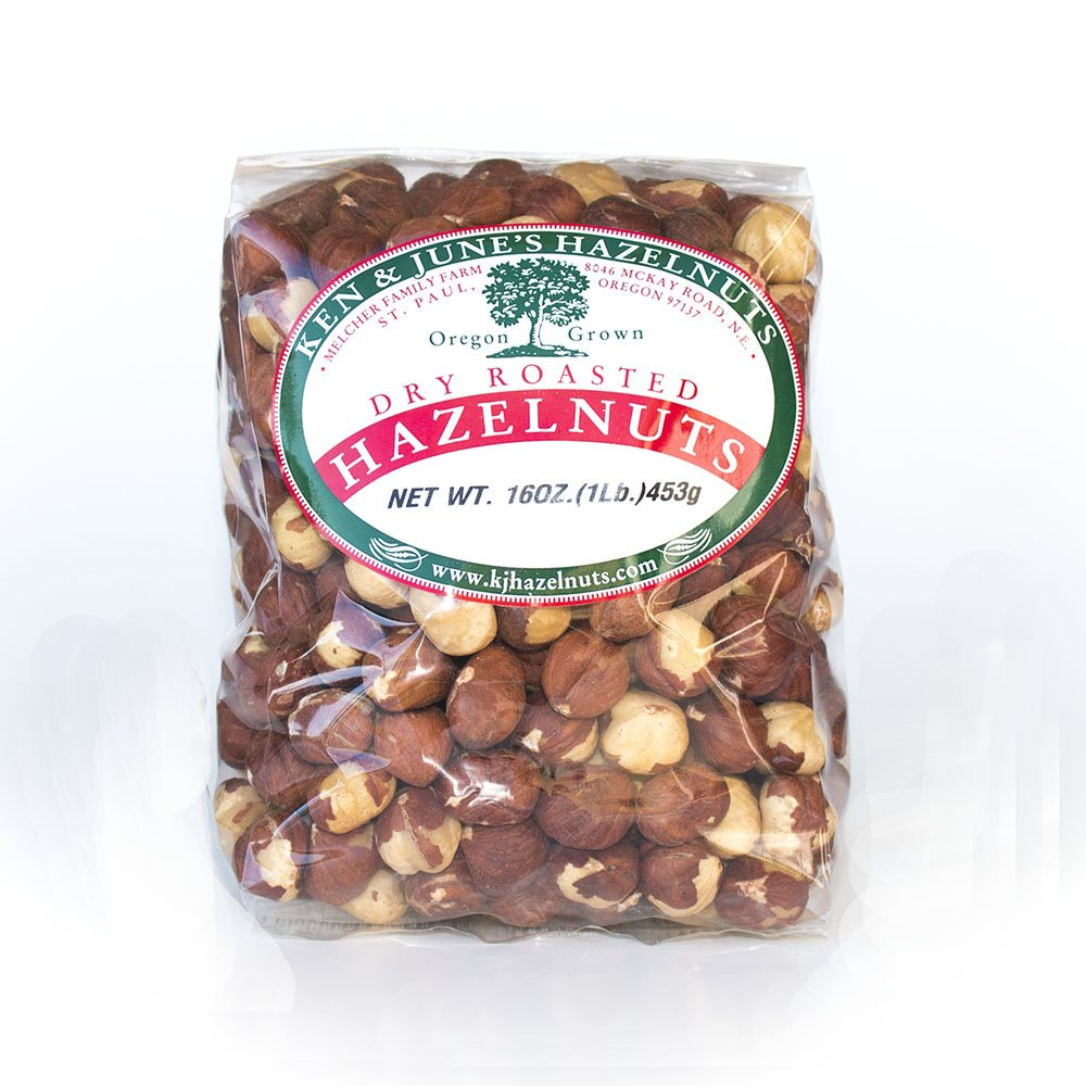 Dry Roasted Hazelnuts - 16 Oz Bag