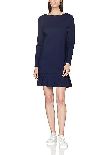 Tommy Hilfiger Imogen Dress LS, Vestito Donna, Blu (Peacoat 443), 42 (Taglia Produttore: 12)