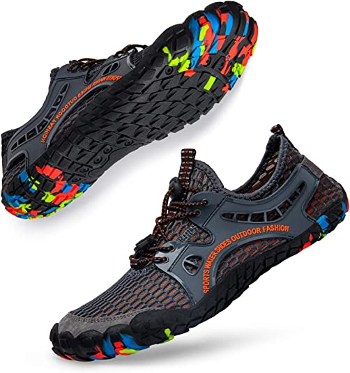 Lavibelle Zapatos de Agua Descalzos – Unisex de Secado rápido Aqua Zapatos Trail Running Gym Fitness Entrenadores para Playa, Yoga, natación, Surf, Buceo, Barco: Amazon.es: Zapatos y complementos