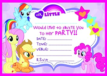 Image Unavailable Not Available For Colour MY LITTLE PONY CHILDRENS BIRTHDAY PARTY