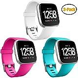 HUMENN Bracelet Fitbit Versa, Bande en TPU Silicone Souple de Remplacement Ajustable Sport Accessorie Fitbit Charge 2 Montre Wristband