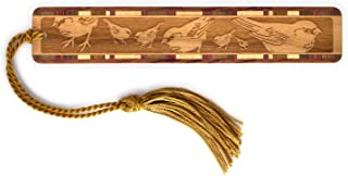 product image for Mitercraft Feeding Chickadees, Engraved Wooden Bookmarks with Tassel - Also Available Personalized