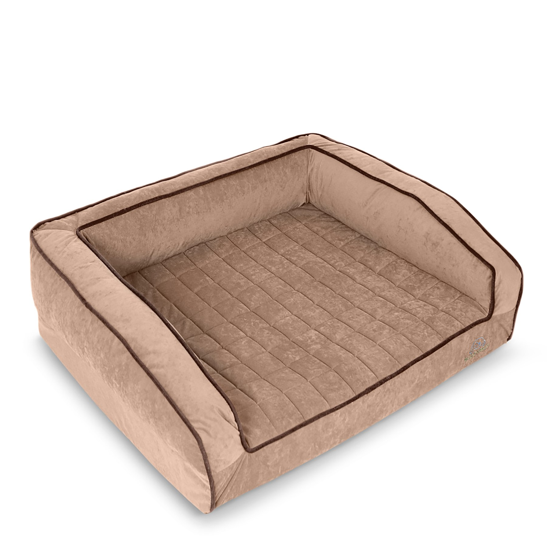 BuddyRest, Crown Supreme, Large Memory Foam dog bed, Cutting Edge True Cool Memory Foam,  Scientifically Calibrated To Promote Joint Health, Handmade in the USA, Iced Mocha