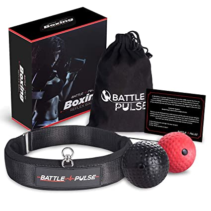 Amazon.com: BattlePulse Boxing Reflex Ball | Premium ...