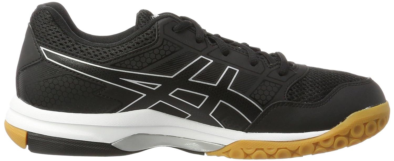 Amazon.com | ASICS Mens Gel-Rocket 8, Black/Black/White, 8 M US | Tennis & Racquet Sports