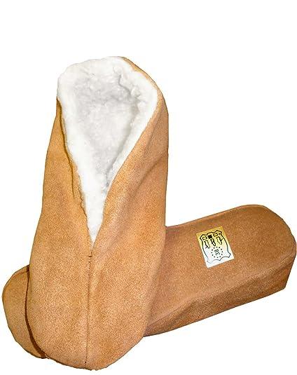 Sonia Originelli Hausschuhe Leder Puschen Mokassins Schluffis Leather Slippers Beige Gr. 35-47 B333-B