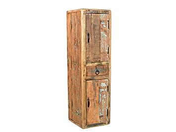 Bad hochschrank holz  Woodkings Bad Hochschrank Kalkutta recyceltes Holz bunt rustikal ...