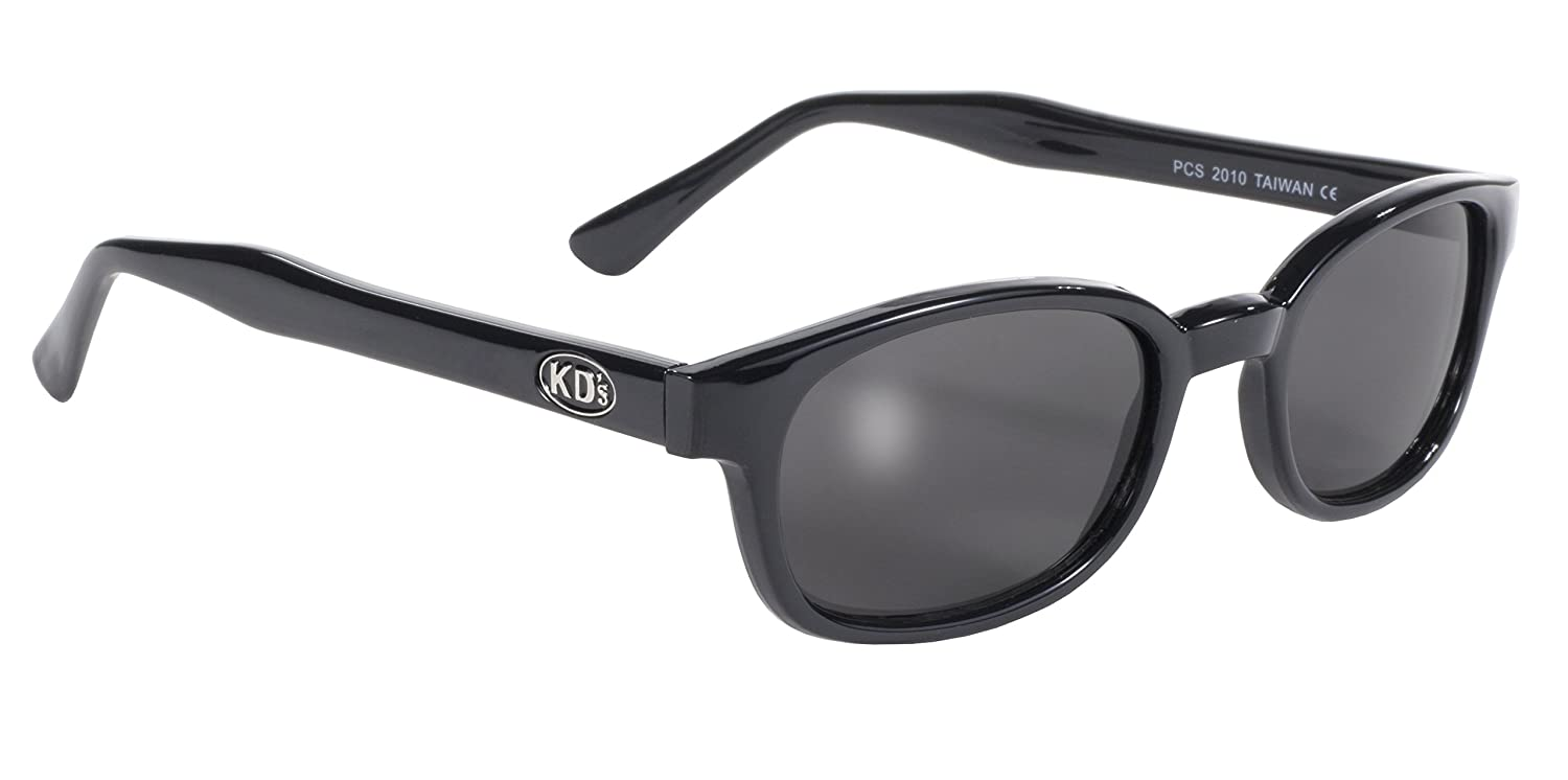 Pacific Coast Original KD's Biker Sunglasses Black Frame Smoke Lens