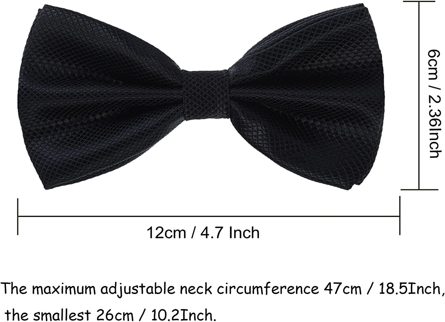 """Suspender /& Bowtie Set for Men/'s Black-6 Different Style 1.37/"""" Wide Adjustable Suspender Perfect For Weddings /& Formal Events"""