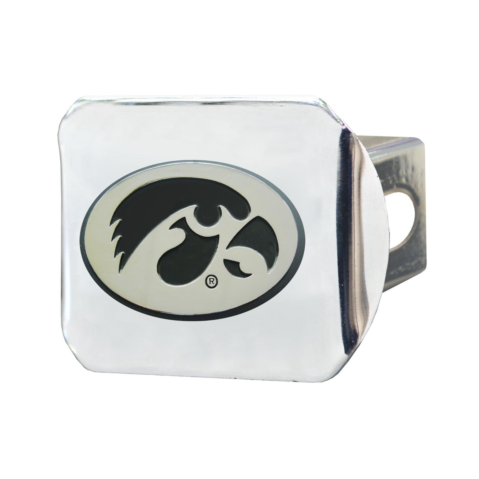 FANMATS NCAA University of Iowa Hawkeyes Chrome Hitch Cover