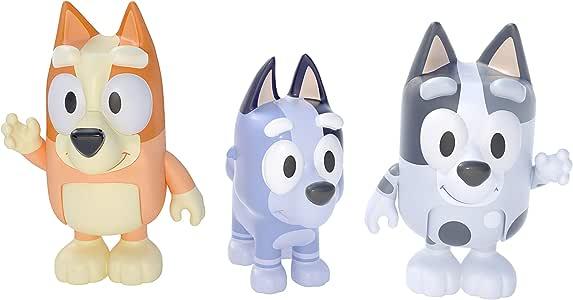 Bluey - Cousins: Bingo, Muffin & Socks 2.5 inch Figures - 3 Pack