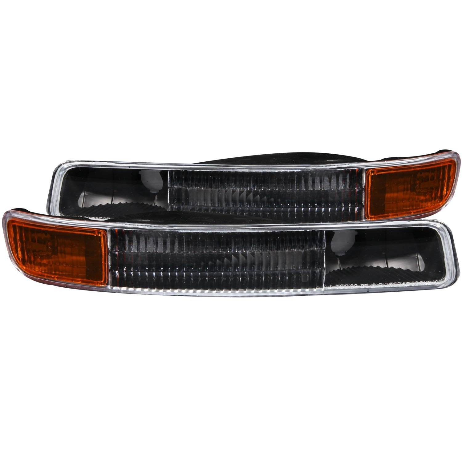 Anzo USA 511005 GMC Black w/Amber Reflector Bumper Light Assembly - (Sold in Pairs)