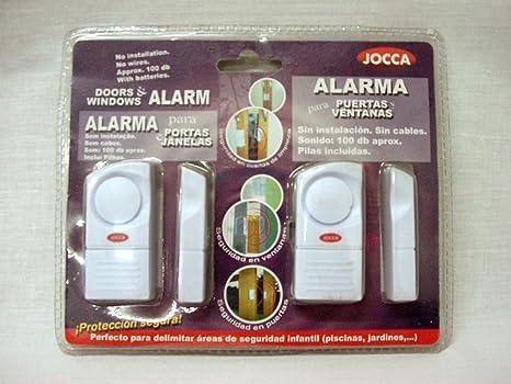 JUEGO 2 ALARMAS PUERTAS VENTANAS SIN CABLES JOCCA: Amazon.es ...