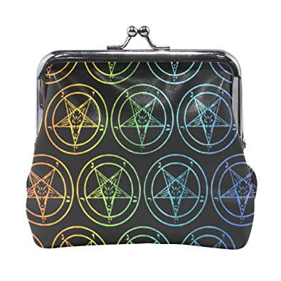 Amazon.com: Baphomet Satanic Goat Gay Rainbow - Monedero con ...
