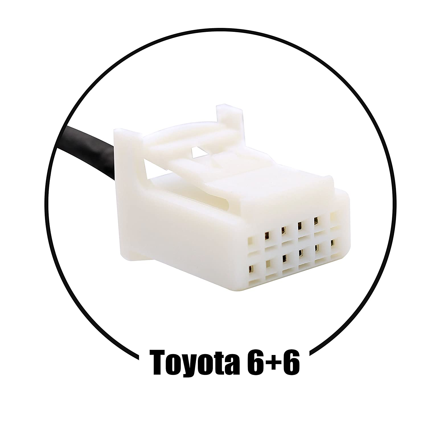 6+6 Auxillary Adapter,Wyness AUX Car MP3 Player Radio Interface AUX in Adapte 3.5mm for Toyota Camry Tacoma Corolla Tundra RAV4 Yaris Lexus RX330 GS300 IS220 Scions Xa XB TC 4350466291