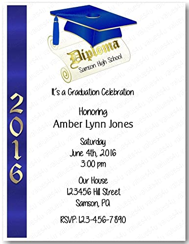 Amazon personalized graduation party invitation graduation personalized graduation party invitation graduation party914 sold in packs of 12 filmwisefo