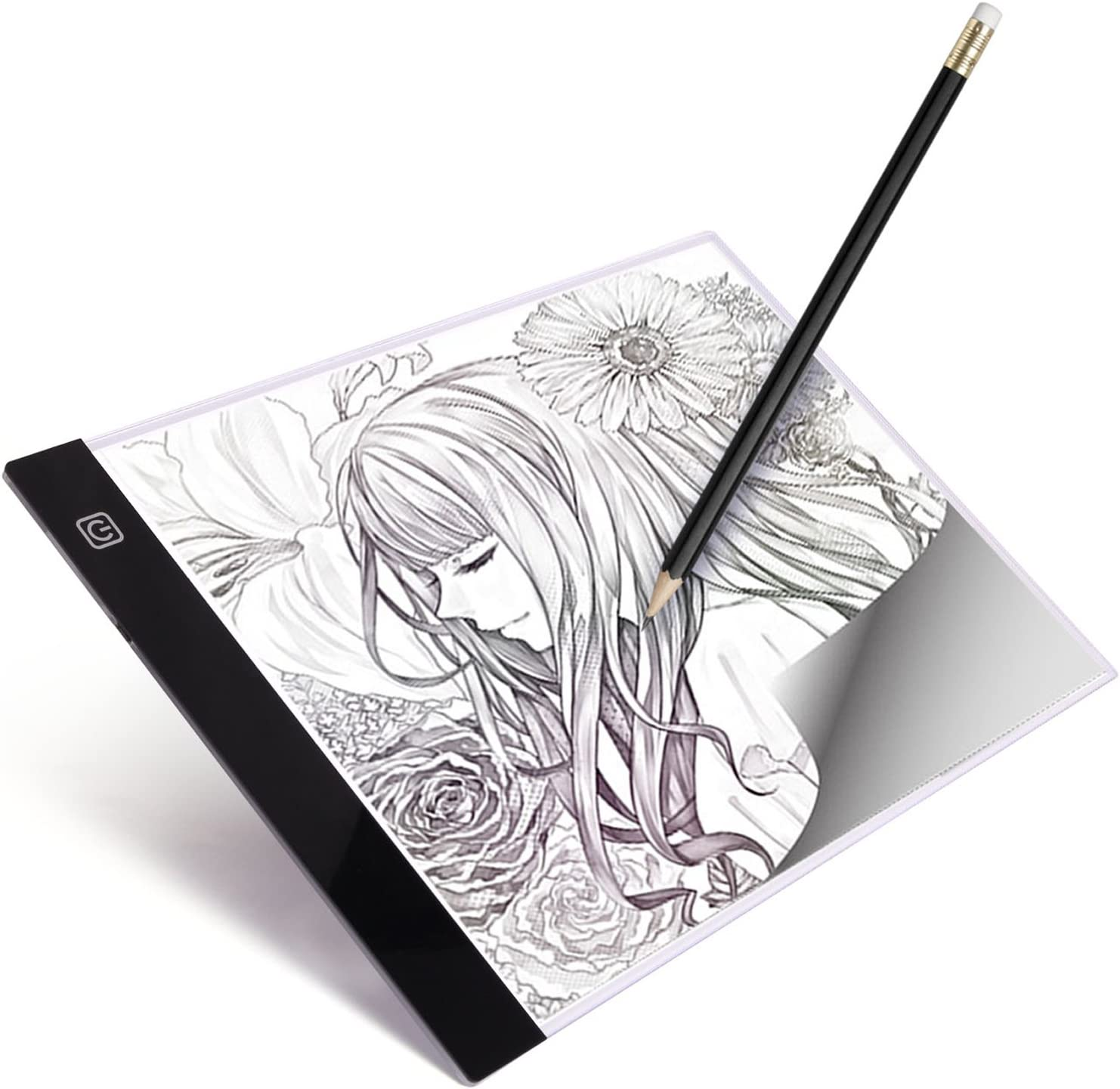 X-ray Viewing Animation AGPtek A4 Ultra-thin Portable LED Artcraft Tracing Light Pad USB-Cable Wall Adapter Powered Stepless brightness control For Artists Sketching Sewing Drawing