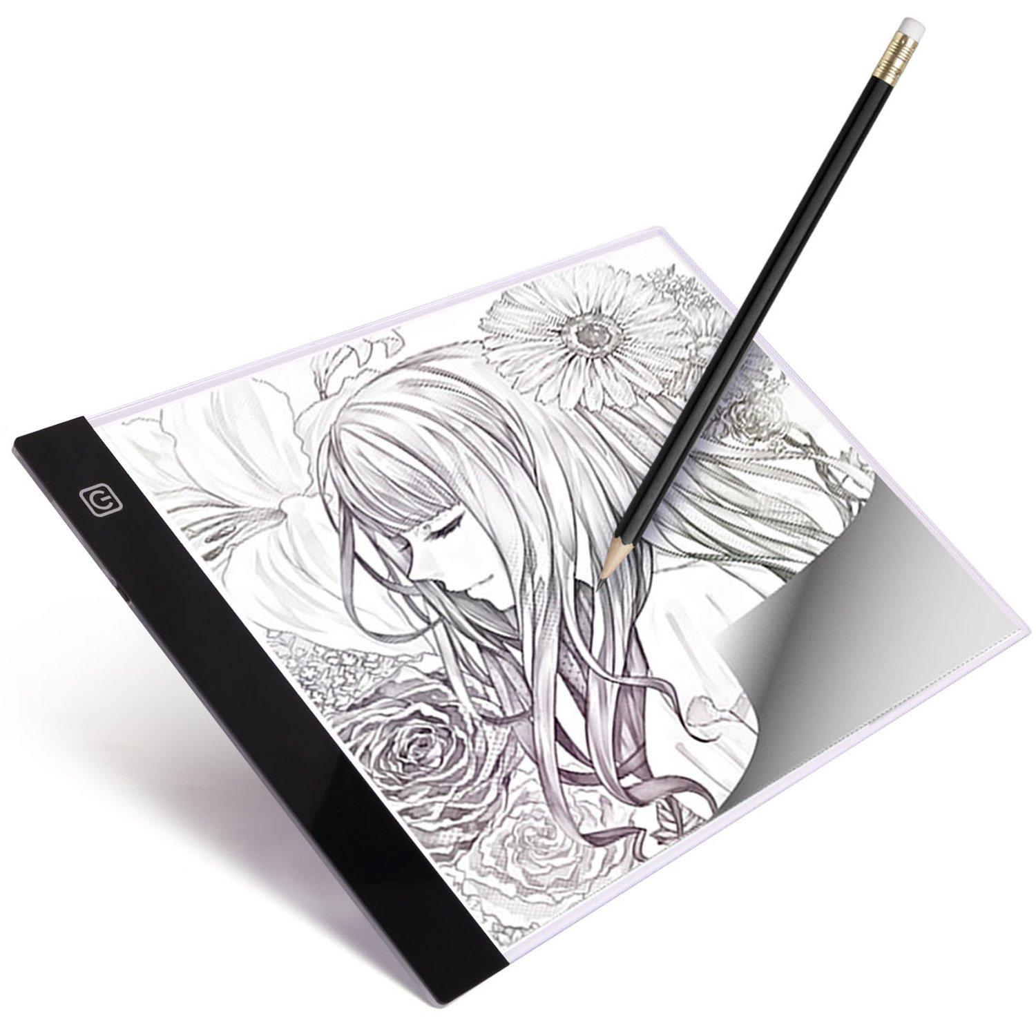 A4 LED Light Box Tracer Ultra-Thin USB Powered Portable Dimmable Brightness LED Artcraft Tracing Light Pad Light Box for Artists Drawing Sketching Animation Designing Stencilling X-ray Viewing by Luditek