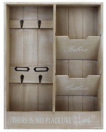 Mayfield Living Wandorganizer Briefablage Home Holz Schlusselbrett