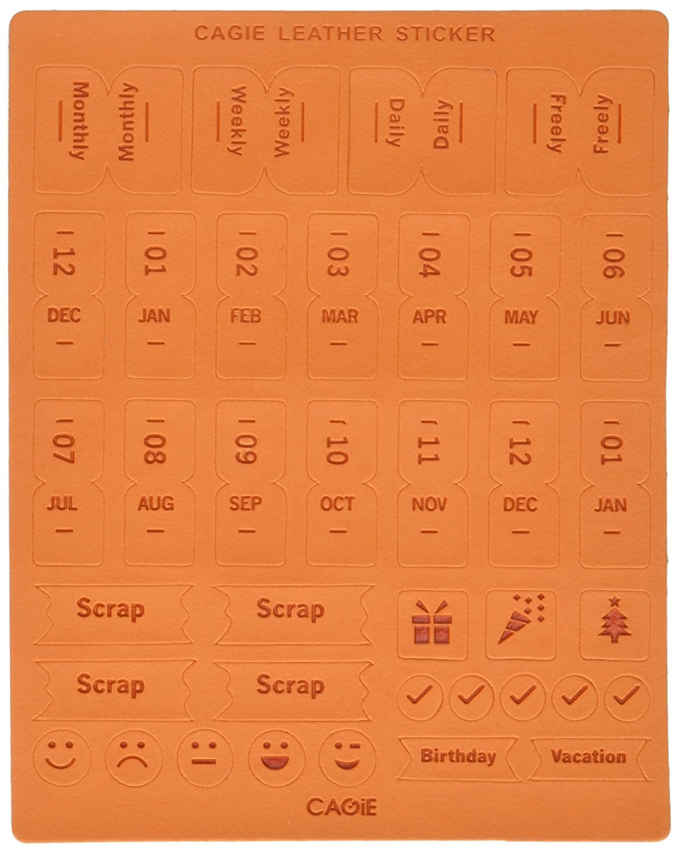 Chris Wang 2 hojas de vinilo autoadhesivo DIY piel Calendario ...