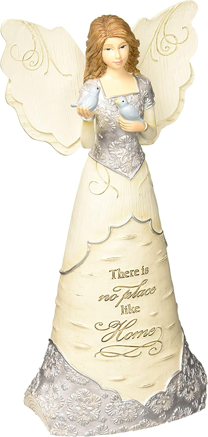 Pavilion Gift Company 7.5 Inch Collectible Elements Angel There is No Place Like Home, Beige