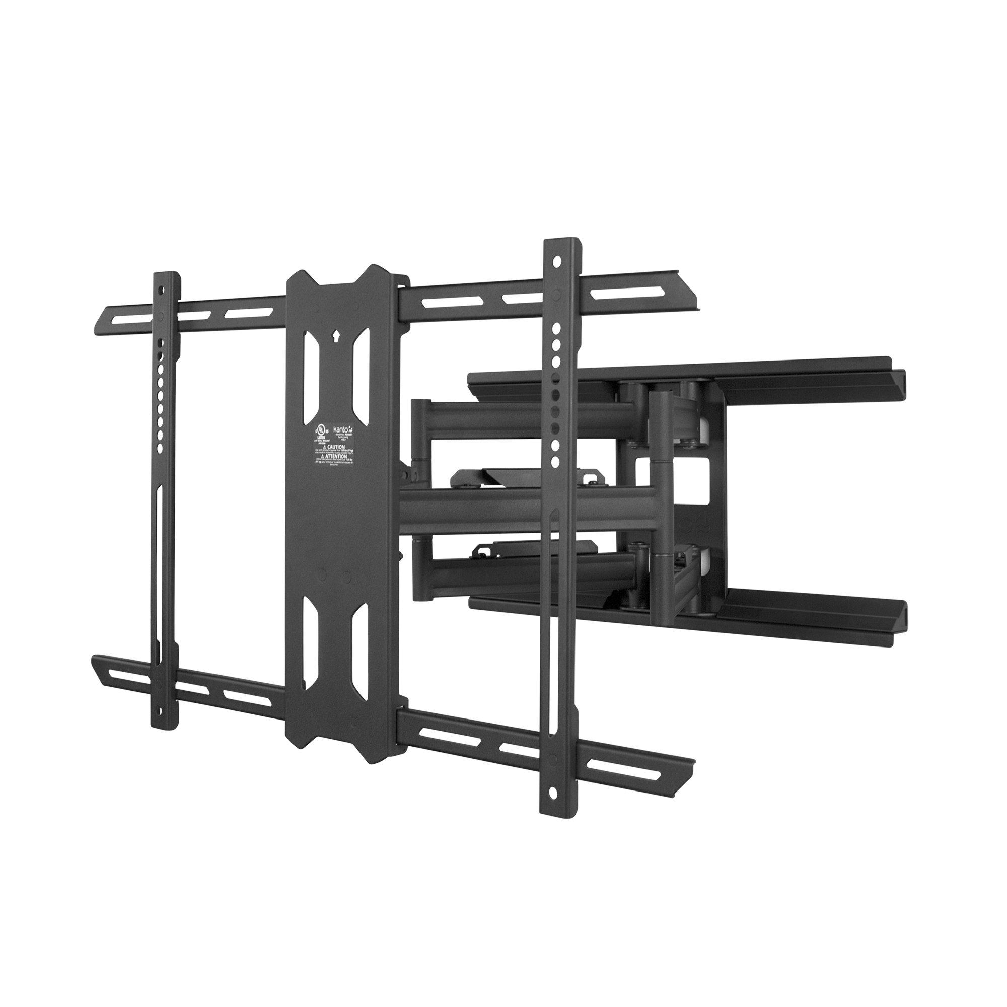 Kanto Full-Motion TV Wall Mount for 37-inch to 75-inch Flat-Screen Monitor – Easy Install – Black by Kanto