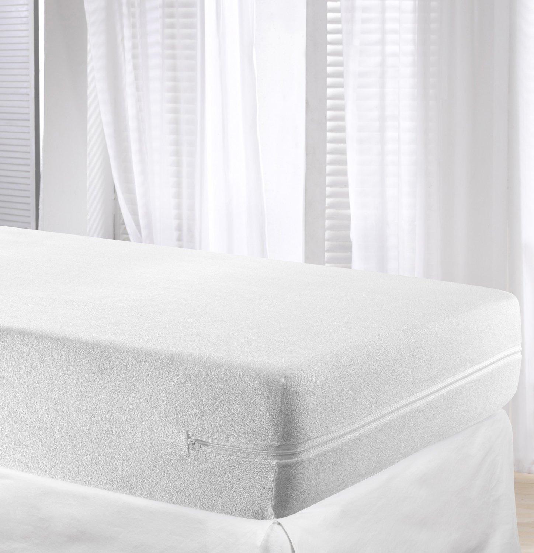 Elastic mattress cover bed protector full enclosed zipped - Colchon de futon ...