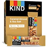 KIND Healthy Snack Bar, Caramel Almond & Sea Salt, 5g Sugar | 6g Protein, Gluten Free Bars, 1.4 Oz, 12 Count