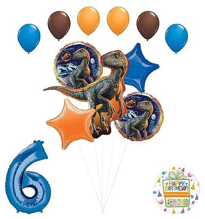 Amazon.com: Jurassic World - Ramo de globos para fiesta de ...