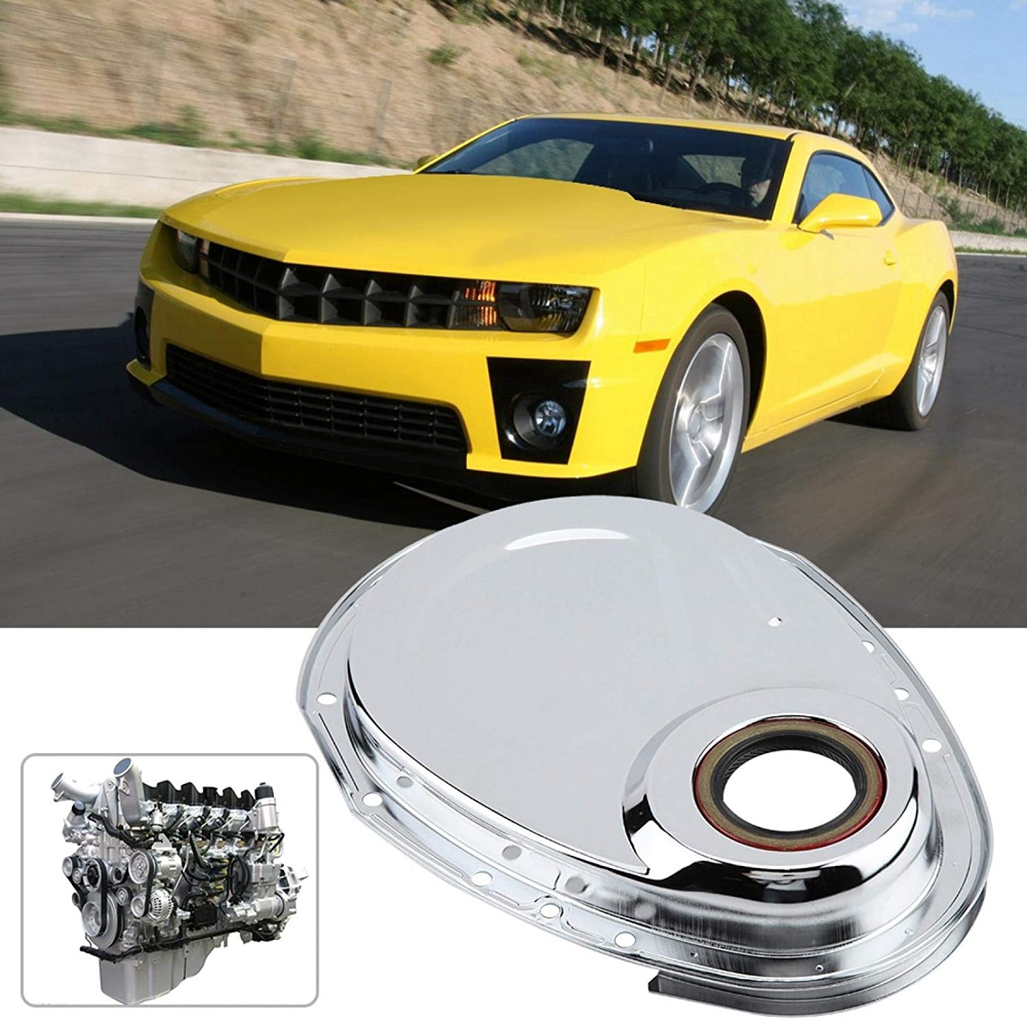 Rigid Pratical Car Repair Car Parts for 283 327 305 350 383 400 Engines Auto Parts Timing Chain Cover Kit Timing Chain Cover Gasket Kit