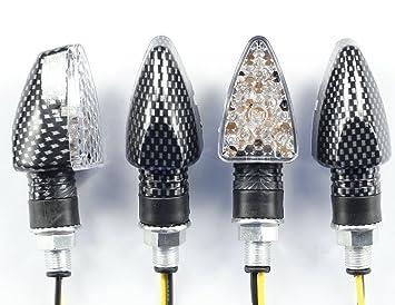 Amazon.com: 4 x de la motocicleta a su vez señales 15 luces ...