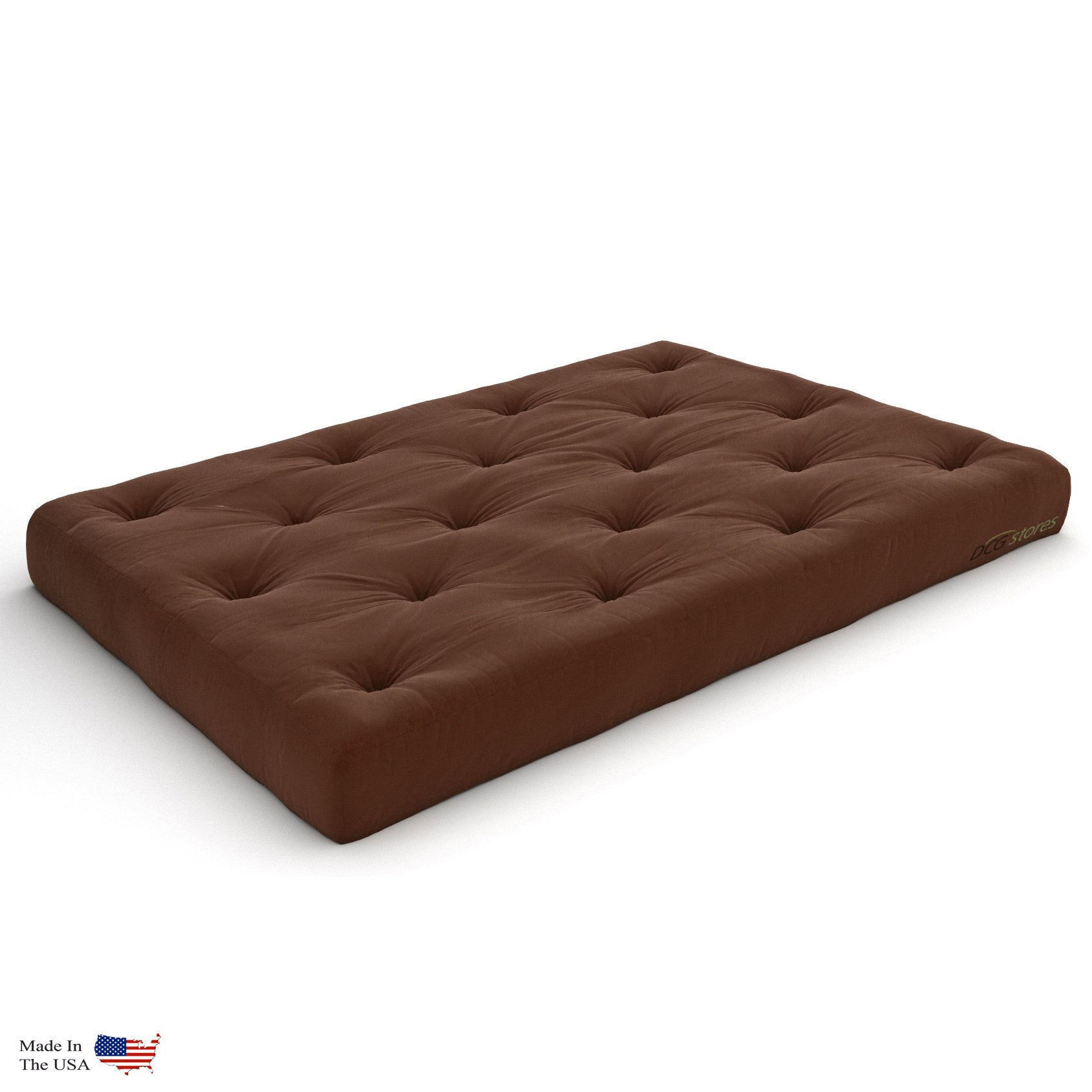 Nirvana Futons Extra Thick Premium 10-Inch Queen Futon Mattress, Microfiber Fudge - Made in USA by Nirvana Futons