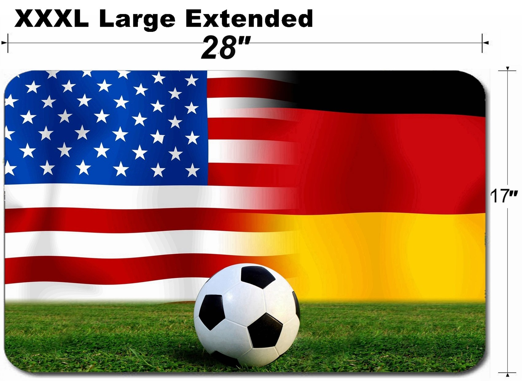 MSD Large Table Mat Non-Slip Natural Rubber Desk Pads Image ID 26544143 Soccer World Cup 2014 Football United States of America and German