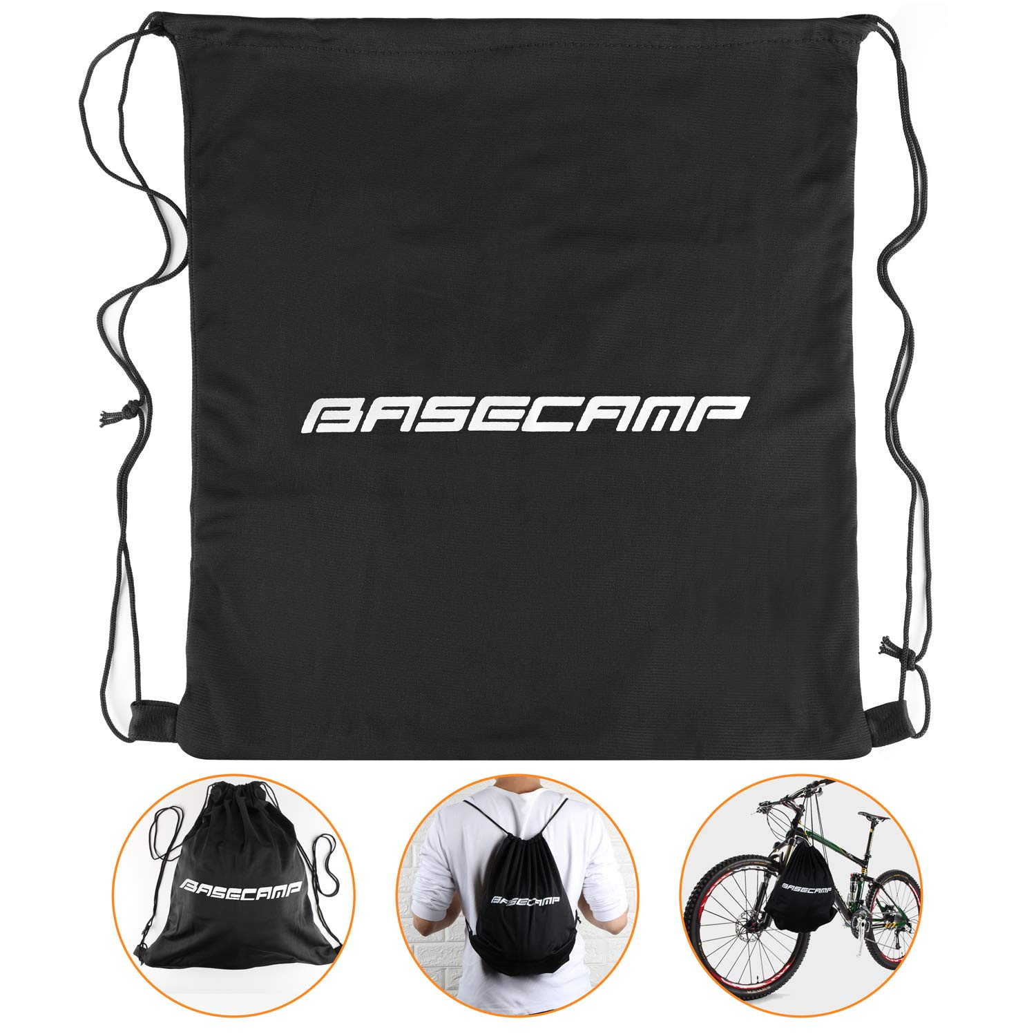 Basecamp Bike Helmet Men/Women,Bicycle Helmet BC-023 CPSC/CE Certified with LED Light+Detachable Magnetic Goggles+Sun Visor+Reflective Straps Cycling Helmet Bonus with Backpack (Blackwhite Pack) by Basecamp