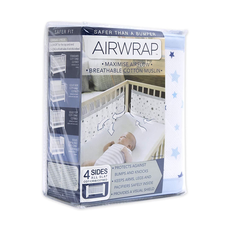 rosa Sterne Airwrap 4-seitige Betten Sto/ßstange