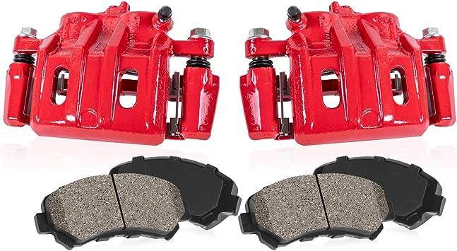 FRONT Premium Loaded Original Caliper Pair Ceramic Brake Pads 2 Callahan CCK03972 Hardware Brake Kit